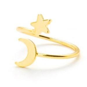 COMING SOON 💜 gold star and moon wrap ring